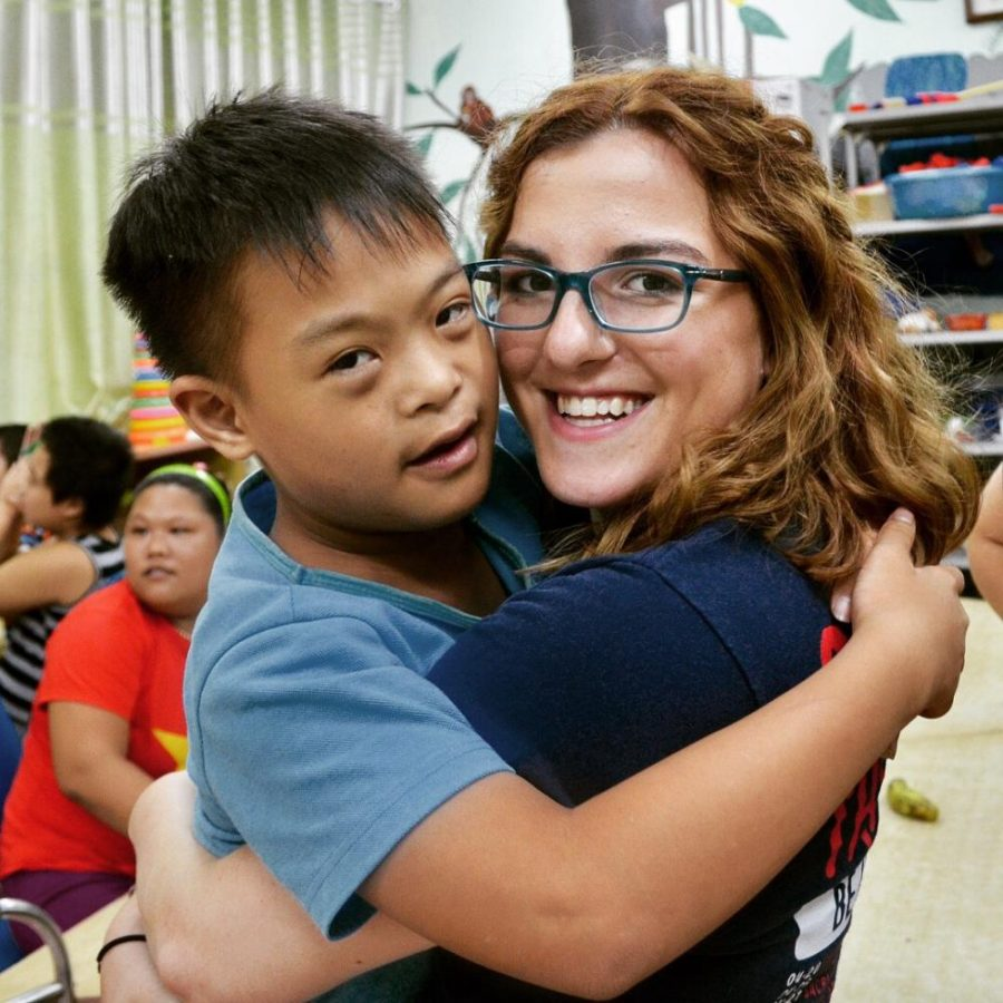 "Spears, at Friendship Village, a place where people affected by Agent Orange can reside. ""I bonded with a little boy named Hai, he was about 8 years old and had Down Syndrome. We played all the time and he taught me how to count to five in Vietnamese,"" Spears said."