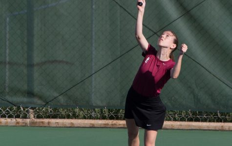 Girls Tennis Plays Hard for their Last Match
