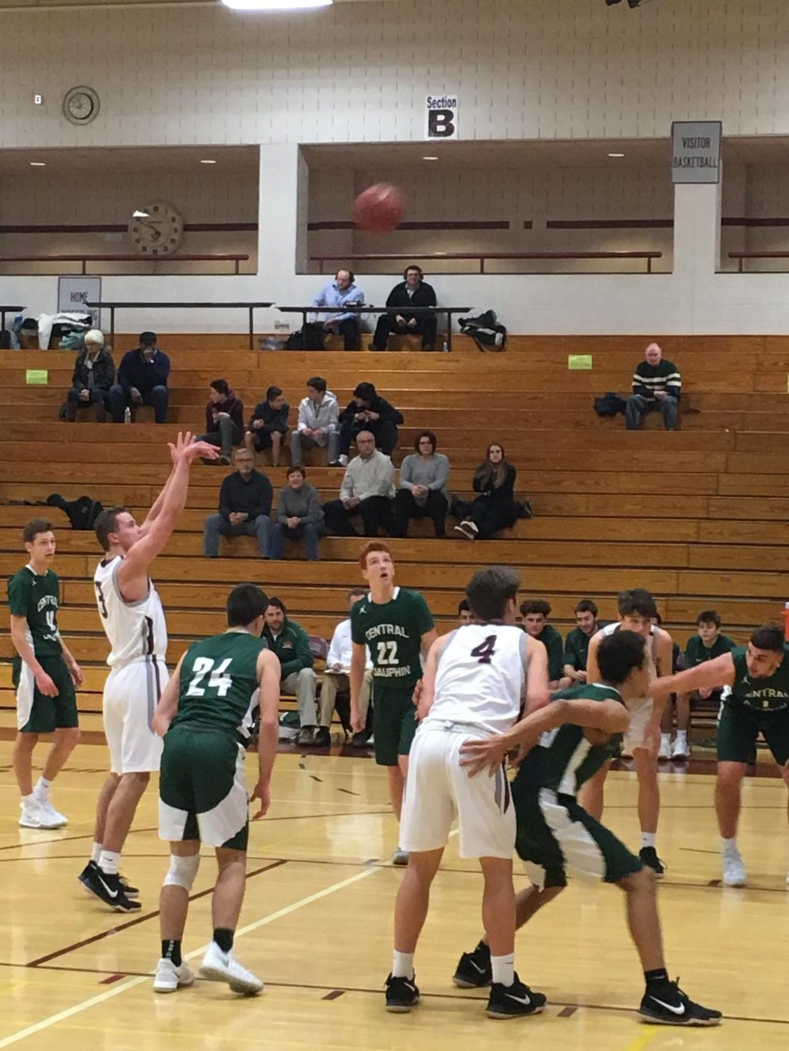 Senior Ryan McNulty shoots (and scores) a free throw that helped to catapult the Little Lions to a 77-53 victory against Central Dauphin.