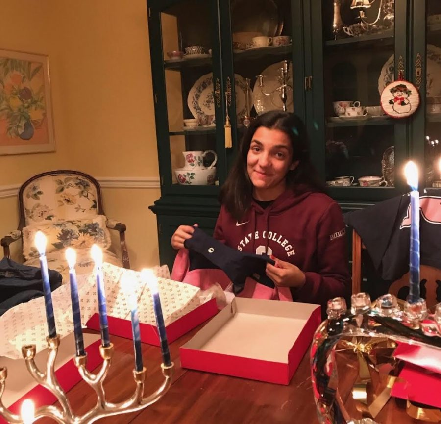 "Anywhere from five to nine million Americans celebrate Hanukkah each year, and it is celebrated in many different ways.  Sophomore  Jane Biddle enjoys celebrating the holiday with her family.  ""While Hanukkah is very different from Christmas,  there are some things that make them very similar. They are both times that you should be with loved ones and enjoying your time together."""
