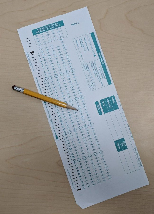 The infamous Scantron form is an all too familiar sight when taking mid-term exams. Scantron forms contribute to the convenience of midterms because each student's exam is graded by simply scanning the form on a machine. This expedites the grading process.