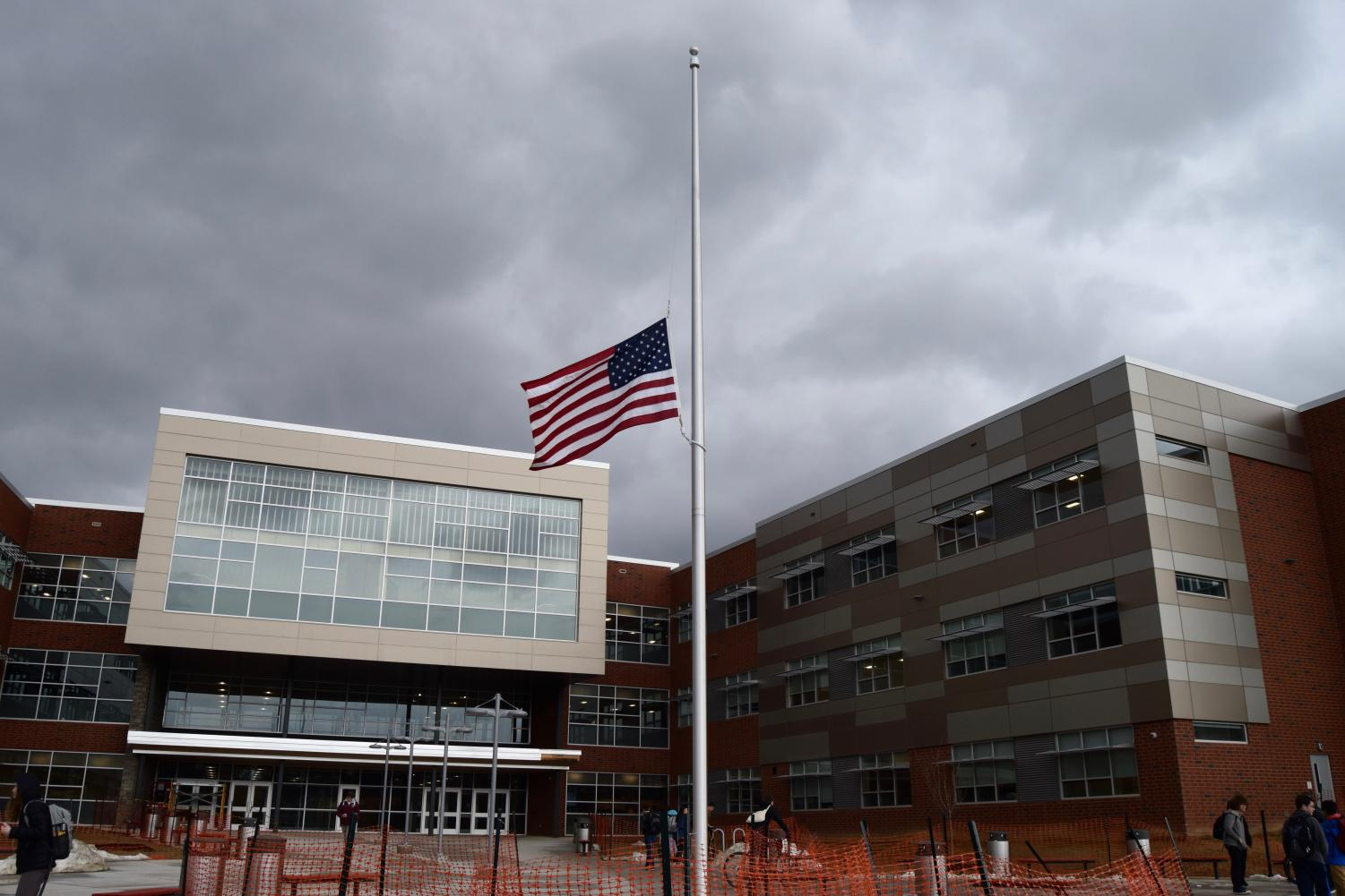 On Friday, February 16, two days after the shooting at Marjory Stoneman Douglas High School, the flag at State High sits at half mast in honor of the lives lost.