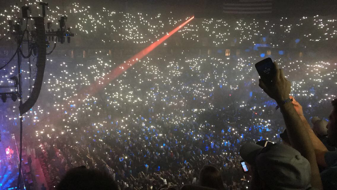 "J. Cole performs his song ""Love Yourz"", which holds a very personal meaning to him. During the song, he told the audience to hold up their flashlights, which made for a very intimate atmosphere. ""I loved the lights, it looked like stars and made for a very special and unique [environment],"" said junior Lydia Fry. Following his performance at the Bryce Jordan Center, J. Cole will perform at the world's most famous arena, Madison Square Garden."