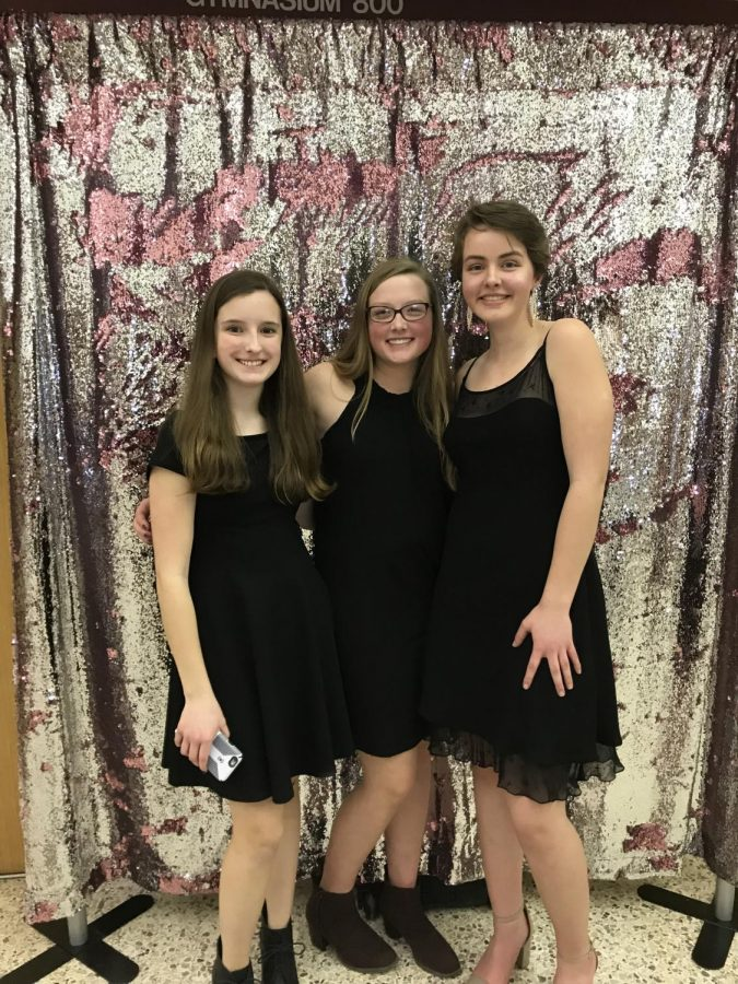 Abigail+Kann%2C+Kiera+Perkins%2C+and+Olivia+Adams+pose+for+a+picture+together+at+last+year%E2%80%99s+State+High+homecoming+dance.+It+was+their+first+high+school+dance.+%E2%80%9CI+have+decided+that+I%E2%80%99m+not+exactly+the+school+dance+type+of+girl.%E2%80%9D+said+Kann.+While+many+students+enjoy+dances%2C+some+disagree.+%0A