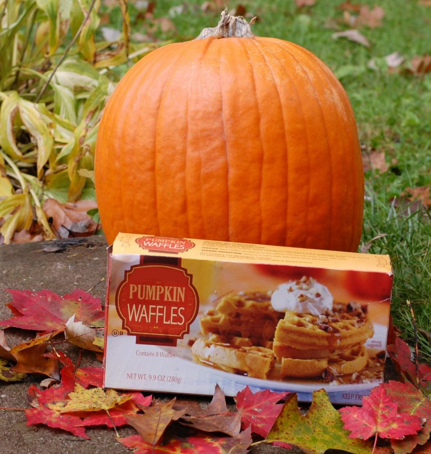 Pumpkin+spice+foods%2C+such+as+these+waffles+%28pictured+above%29%2C+are+filling+the+aisles+of+stores+this+time+of+year.+Lauren+Lieb%2C+sophomore%2C+shares+her+thoughts+about+the+flavor.+%E2%80%9CI+love+pumpkin+spice+because+it+can+be+incorporated+into+a+lot+of+different+products%2C+specifically+food%2C+It+tastes+good+and+is+a+good+way+to+embrace+the+season.%E2%80%9D+