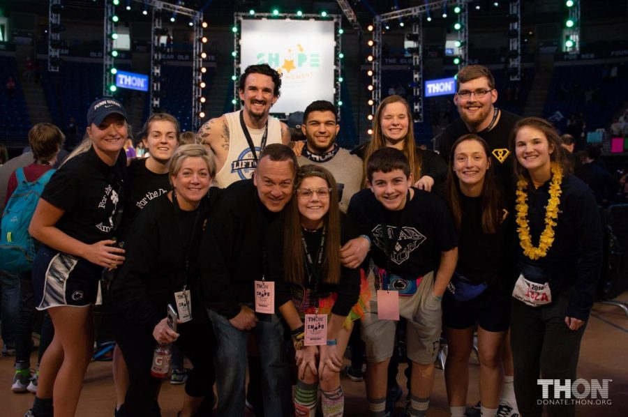 Senior%2C+Isabella+Messina+and+her+family+at+THON+2019.+Isabella+is+a+two+time+cancer+survivor+and+has+been+a+Four+Diamonds+child+since+2003.+