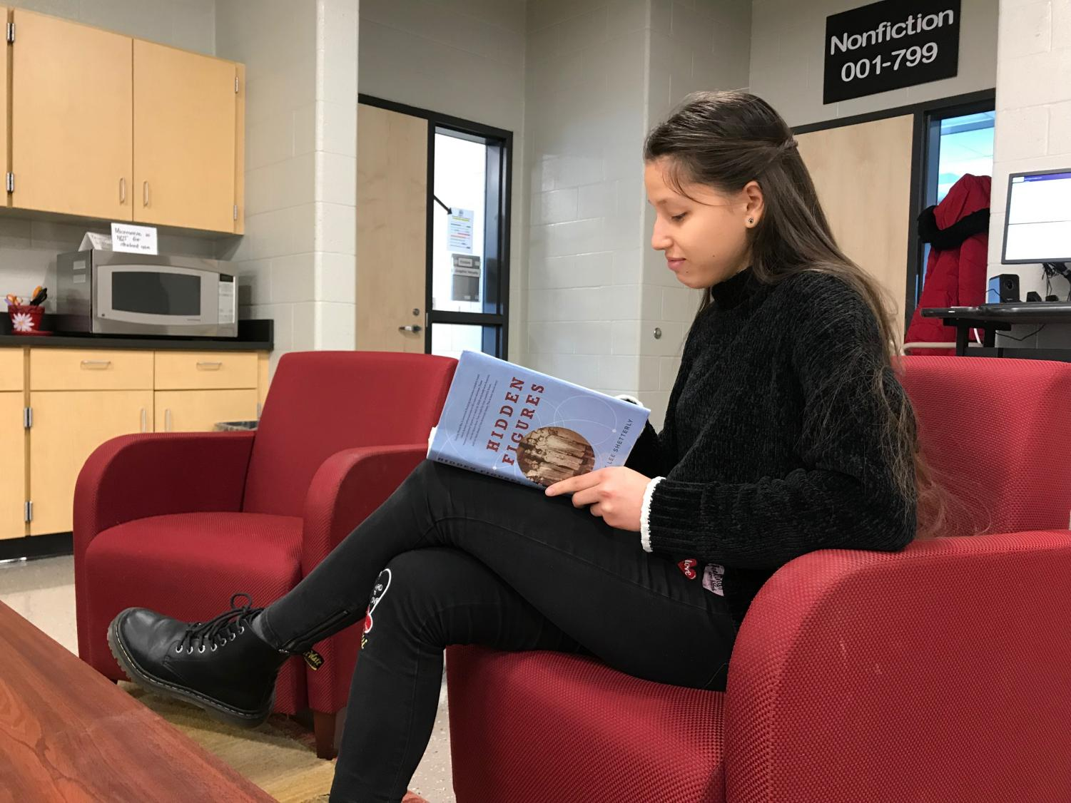 Freshman Arina Kuzina read the book Hidden Figures by Margot Lee Shetterly in honor of the Black History Month.