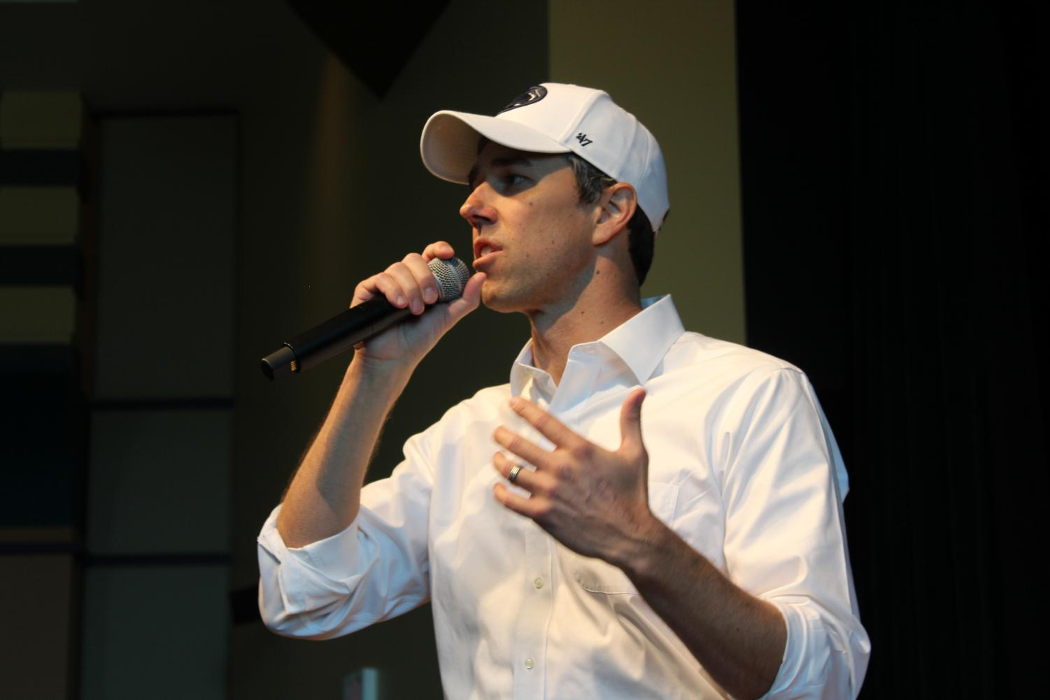 """Democratic Presidential Candidate Beto O'Rourke visits Penn State University to host a campaign rally. """"As long as these conditions persist, as long as we do these kinds of things to our fellow human beings, it is on all of us,"""" O'Rourke said. Listeners were eager to hear from the candidate on his policies, which are not listed on his website."""
