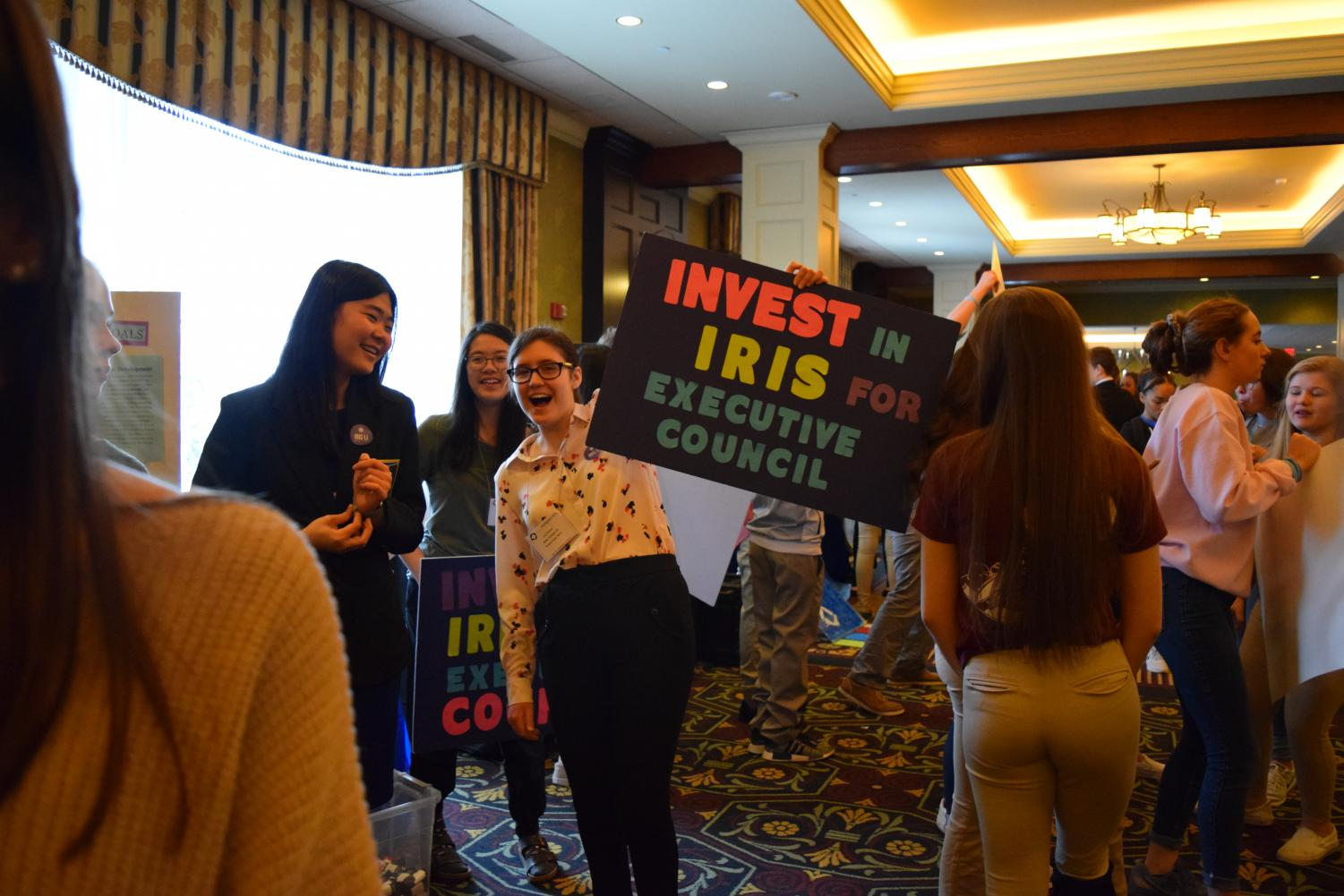 Iris Li and Liz Orlova campaign for Li's seat in DECA's Executive Council. The campaign was a loud, fun-filled, and important event, one that paved the way to Li's victory.