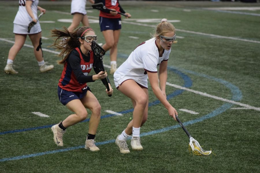 Senior+Sally+Stahl+works+the+ball+down+the+field+towards+the+Redland+Patriots+goal.+Stahl%2C+the+lead+scorer+for+the+State+High+Little+Lions+girls+lacrosse+team+has+been+recruited+to+play+lacrosse+at+the+University+of+Massachusetts+Amherst.+%E2%80%9CI+am+very+grateful+to+have+the+opportunity+to+go+to+UMass%2C+especially+to+play+lacrosse.+.+My+advice+I+would+give+to+other+athletes+looking+to+play+at+a+collegiate+level+would+be+to+not+be+afraid+to+put+yourself+out+there%2C+it+is+very+clear+who+is+playing+with+confidence+and+who+isn%E2%80%99t%2C%E2%80%9D+Stahl+said.+The+Little+Lions+can+be+seen+next+on+Thursday+the+18th+at+5pm+at+Memorial+Field+against+Lewisburg+girls+lacrosse+team.
