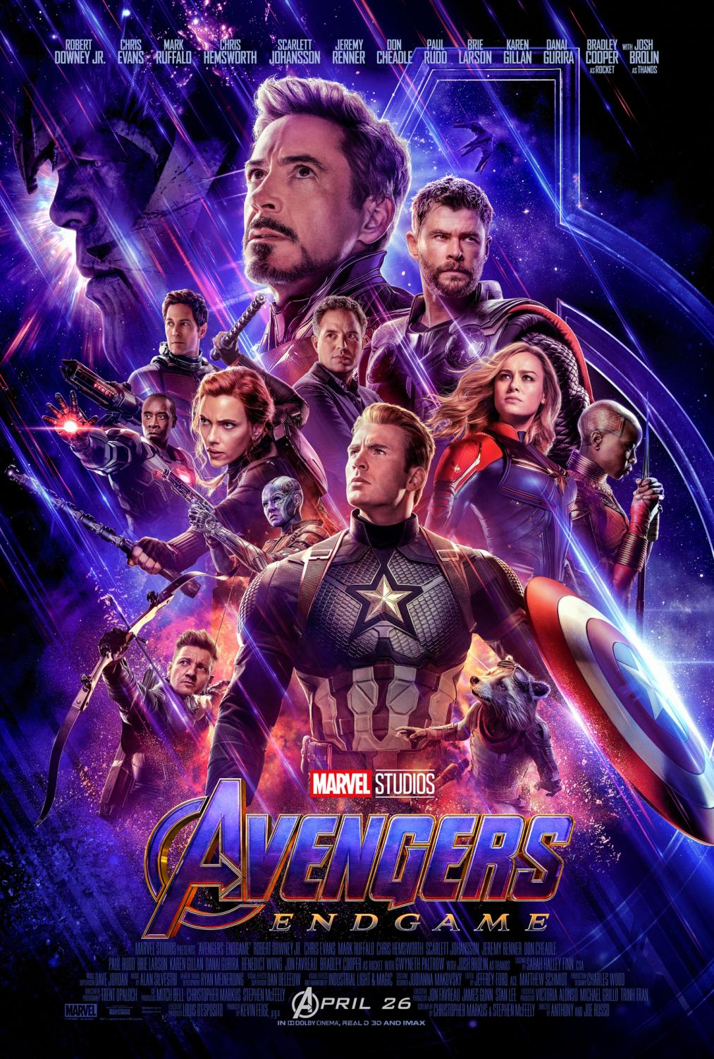 "The poster of Endgame was all over social media during its promotional period and after its release. The poster recognizes the stars of the movie in their character forms: Captain America, Ironman, Thor, Captain Marvel, Black Widow, Hawkeye, Rocket, Bruce Banner (the Hulk), Rocket, Okeye, Nebula, War Machine, and Antman. ""It wasn't over dramatic, but it was so emotional. It was a perfect end to these movies,"" junior Alison Houtz said."