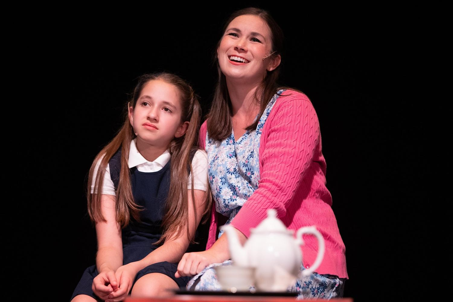 Eliza Marcovitch (left) and Leah Mueller (right) perform in Matilda the Musical.