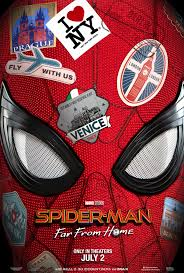 The Spider-Man: Far From Home movie poster promoting Sony and Marvel's last collaboration on the Spider-Man character in film before renogtiations began.
