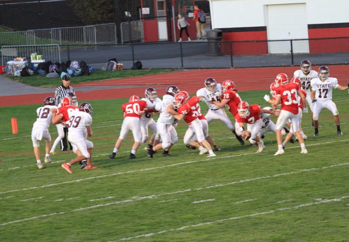 "The State High 9th grade football team beat the Central Dauphin 9th grade team in a comeback victory on October 17th. ""I believed in our guys and they believed in themselves,"" 9th-grade Head Coach, Coach Clark said. ""I'm really proud of our guys and how they fought through the adversity."""