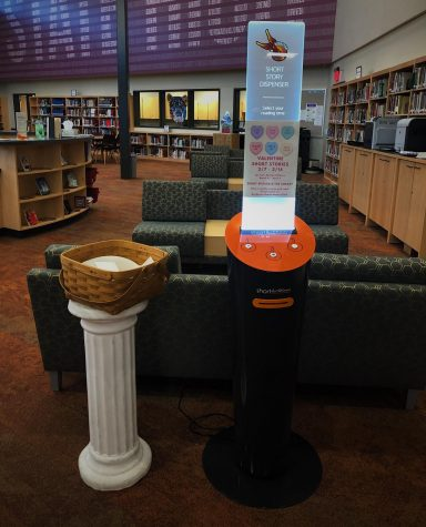 "The short story dispenser prints a variety of short stories for State High's enjoyment and currently stands at the front entrance to the library. ""The dispenser is a great option for students to use for a mindful moment and to relieve some stress,"" State High counselor Suzanne Lyke said. Stop into the library today to read your own short story."