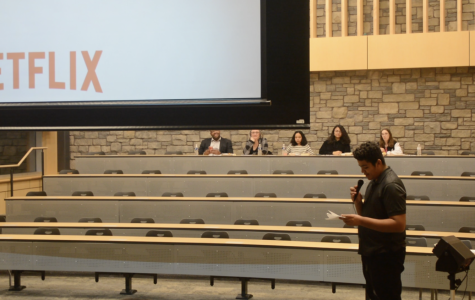 "Aidan Kennedy-Phillips, a sophomore at Delta High, introduces his Community Action Plan project. He chose to show the Netflix documentary '13th.' He opened by saying, ""I'm glad you could all be here tonight, this is such an important film about the mass incarceration crisis in the United States."""