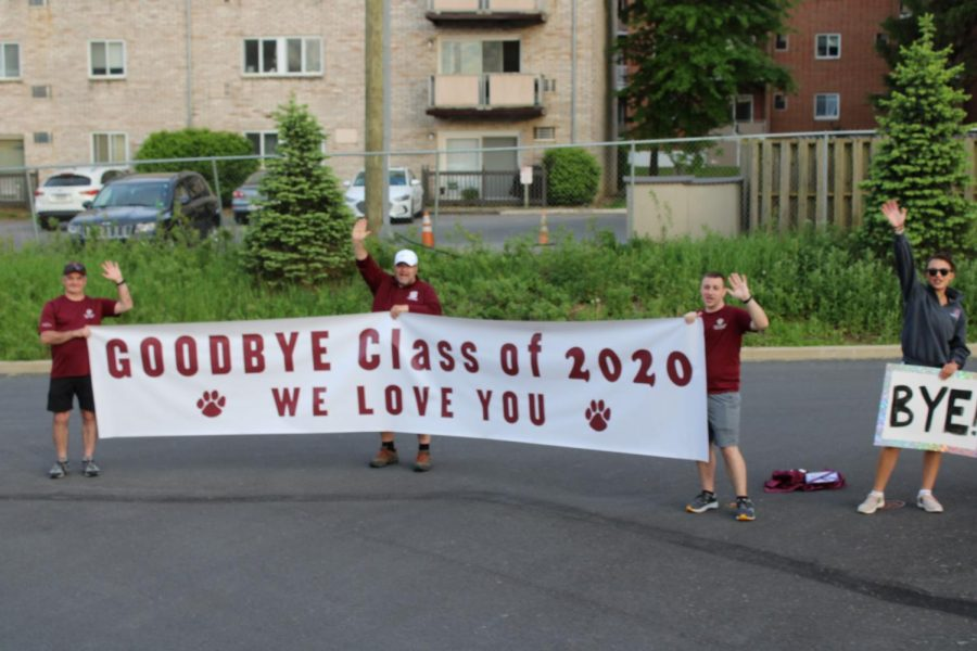 """The image was taken during the senior parade to honor the Class of 2020 and let them see their teachers one last time. """"It will be hard to let go of the structure of my parents and the school, but I am confident in my ability to be independent and self-sufficient. State High has taught us to"""