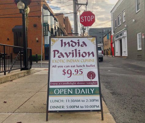 "Outside India Pavilion on East Calder Way in downtown State College, PA, taken Sept. 28, 2020. ""This is what we do,"" owner Baljinder Dadra said. ""This is what we've been doing for a while and we're part of the community."" To Dadra, like many, his business means the world to him."