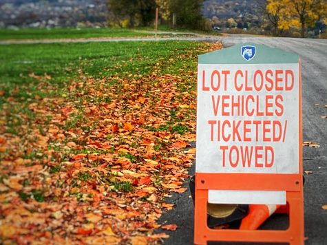 As tailgating shuts down for fall 2020, lots where vehicles used to park for tailgating become empty, and signs are posted around town warning of the consequences of tailgating.