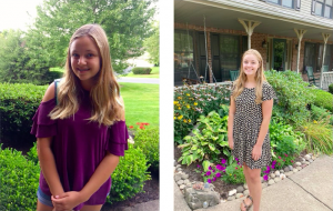 Anna Garlicki poses and smiles in anticipation of her first days of freshman and senior year at State High.