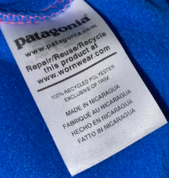 Patagonia uses recycled materials to try to be as sustainable as they can.
