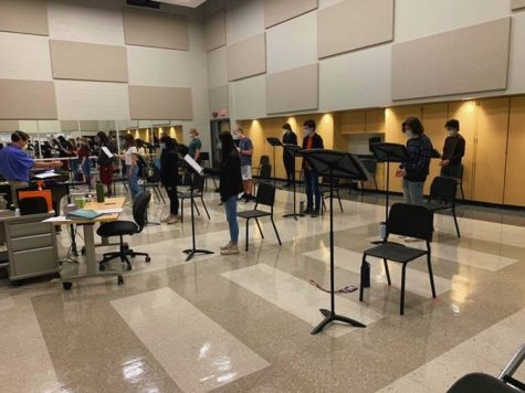 A Chamber Singers rehearsal at State High in State College, PA, taken Oct. 22, 2020.
