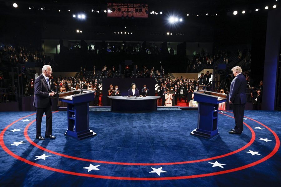 President+Donald+Trump+and+Democratic+Nominee+Joe+Biden+face+off+in+the+2nd+Presidential+Debate+on+Thursday%2C+Oct.+22%2C+2020.+