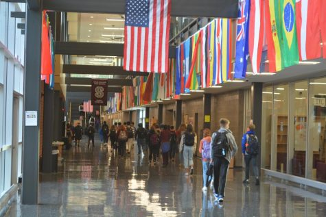 Students walk through the halls of State High on Thursday, Nov. 12.