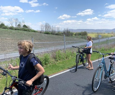 State High sophomore Caitlyn Keiter took up biking during the pandemic as a way to get outside and get some exercise. Keiter (right) and friends came to use their bikes on a regular basis during quarantine.