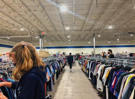 Inside the newly moved Goodwill location on Benner Pike in State College, PA, taken on Nov. 18, 2020. Although masks are required in the store, those who don't feel safe shopping in person now have access to Goodwill online as of last year, along with additional second-hand platforms such as ThredUp, Depop, Poshmark, and more.