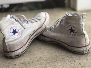 Dianna Halloran's two-year-old pair of Converse All Stars still goes with any outfit and can be worn anytime. State College, PA, Friday, Jan. 8, 2021.