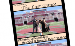 An image taken from the promotion video for the prom showcases senate members Dylan Bellissimo, Payton Treaster, Bayla Furmanek, and Emma Ryan(left to right) dressed up in formal attire on Memorial Field.