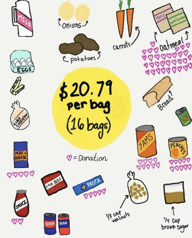 A post from @allegheniesaboltion Instagram page on Jan. 31, 2021, illustrating the effect of their Free Groceries program. All of the donations that were spent on these groceries came from the organization's Solidarity Fund.