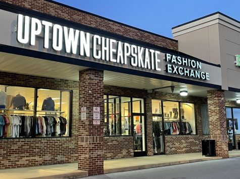 The exterior of Uptown Cheapskate in State College, PA, on Oct. 4, 2021.