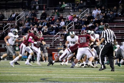 State College works together to get a touchdown on Friday, Oct. 1 at Memorial Field.