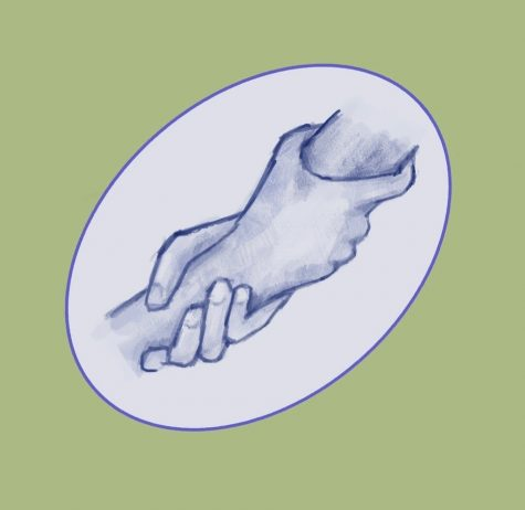 The graphic shown above, drawn by Marissa Xu, symbolizes mutual aid by depicting the direct support between one person and another.